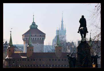 Krakow Symbols In The Morning Light