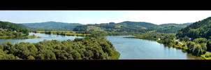 Dunajec River Pool Panorama