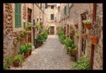 A Quiet Street In Valldemossa