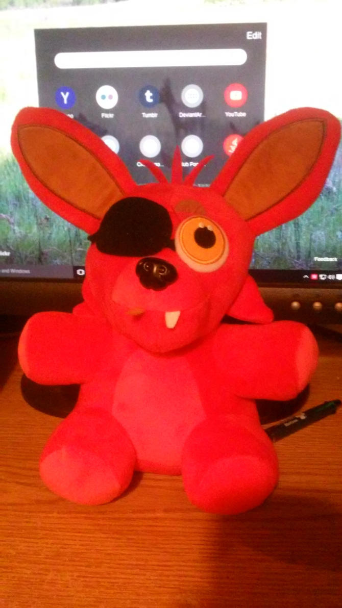Fnaf foxy plush d by wynterstar93 on deviantart
