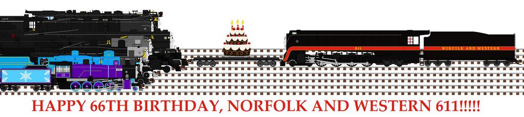Happy 66th Birthday, Norfolk and Western 611 by WynterStar93 ...