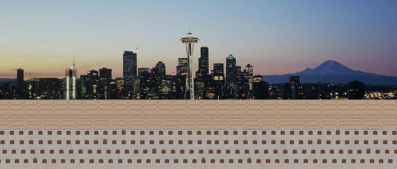 Seattle Skyline at Dusk Background