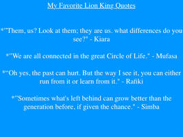 My favorite Lion King Quotes