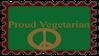 Proud Vegetarian Stamp by FriendshipFan1996