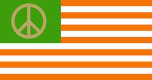 Green and Orange Peace Flag