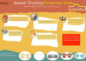 The Lion Guard Animal Tracking Footprints Game