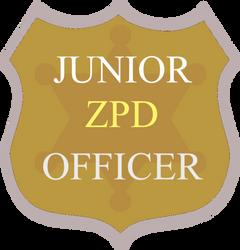 Fanmade Jr ZPD Officer Badge