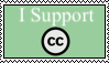 I Support Creative Commons Stamp by FriendshipFan1996