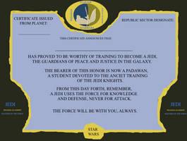 Jedi Certificate (Fanart)