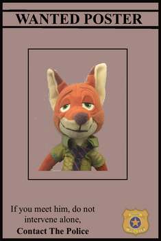 Nick Wilde Wanted Poster (Fan Made)