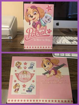 Paw Patrol Skye and Everest Birthday Card