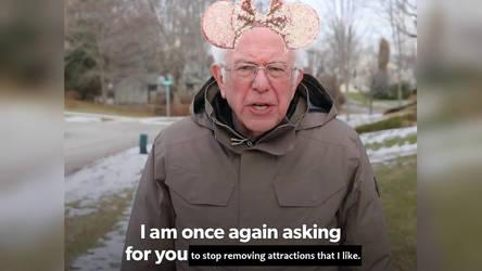 Bernie Sanders Disney Attractions Meme