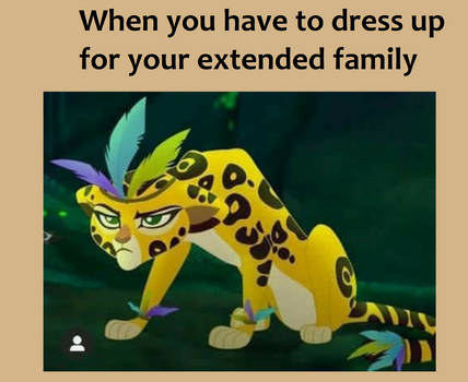 When you Have to Dress up For Extended Family Meme