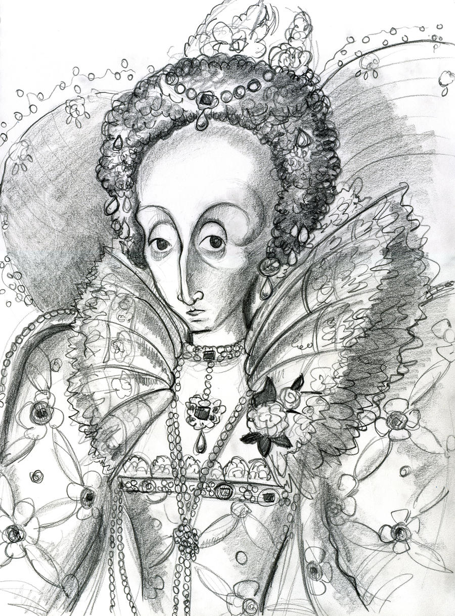 Queen Elizabeth I by Caricature80