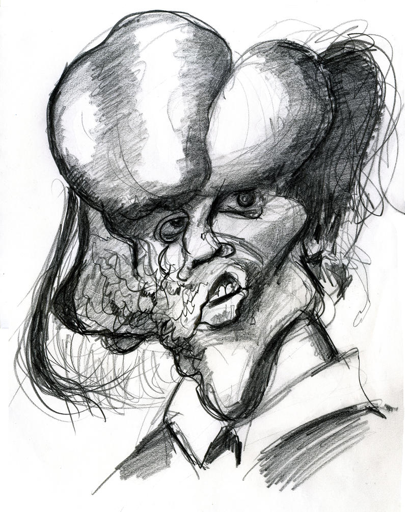 John Hurt as The Elephant Man-1980 film by Caricature80