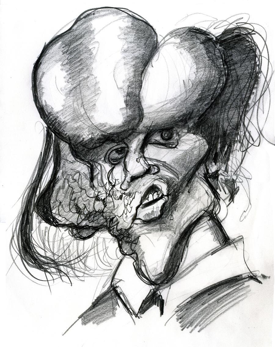 john hurt as the elephant man 1980 film by caricature80 on deviantart