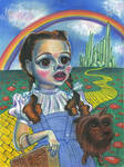 Caricature of Judy Garland as Dorothy