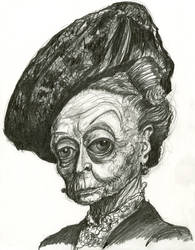 Dame Maggie Smith in Downton Abbey by Caricature80
