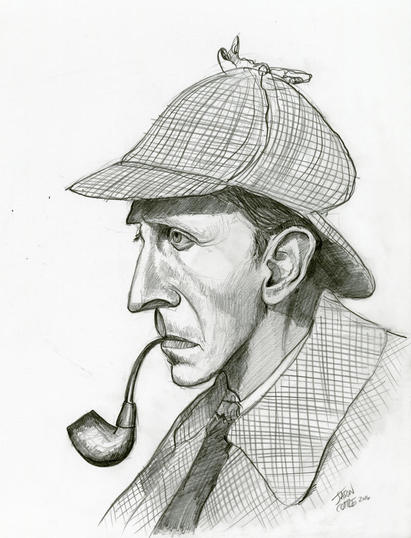 Peter Cushing in The Hound of the Baskervilles by Caricature80