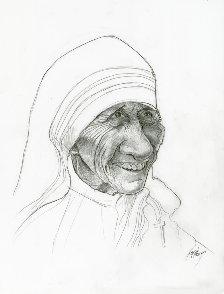 Mother Teresa by Caricature80