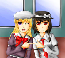 Maribel Hearn and Usami Renko by yuritho