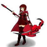 Ruby Rose holding scythe