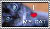 I Love My Cat Stamp by Shema-the-lioness