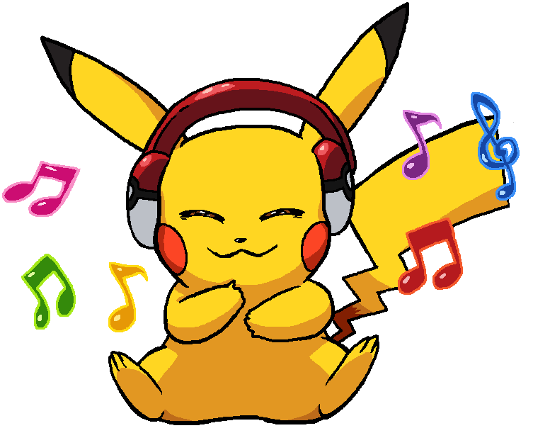 Pikachu Listen Music By Tzblacktd On DeviantArt