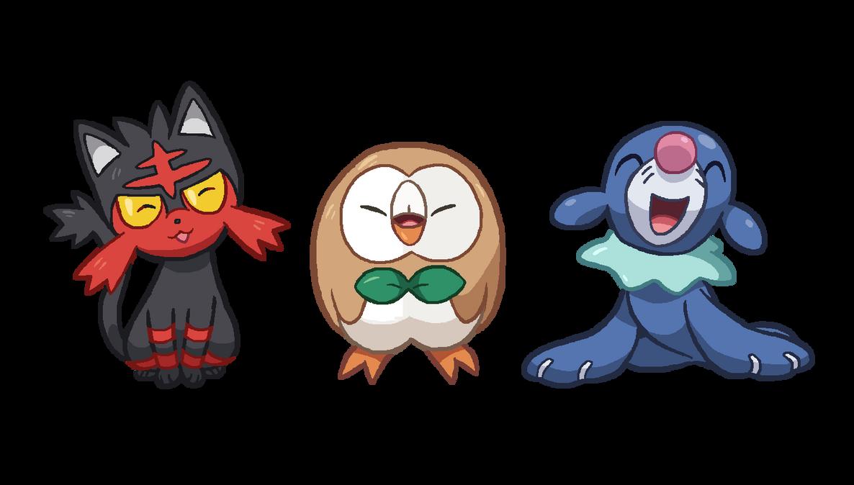 pokemon sun moon starters by tzblacktd on deviantart