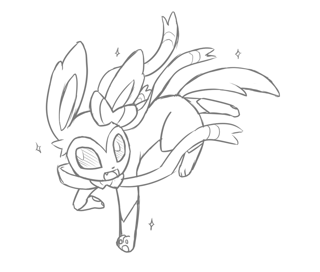 Coloring Pages Pokemon Eevee Evolutions Sylveon Printable