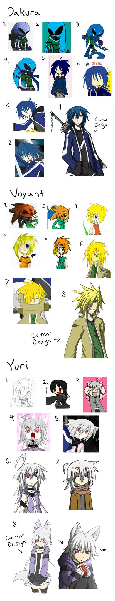 Rakkushi - Evolution Of My Characters by RakkuGuy