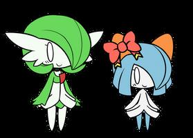 Airalin and Serene Chibis