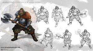 Male Hero 01 Concept Sheet by Messiah972