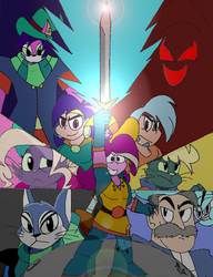 Mighty Magiswords Fusion War Colored Cover by Frozarburst