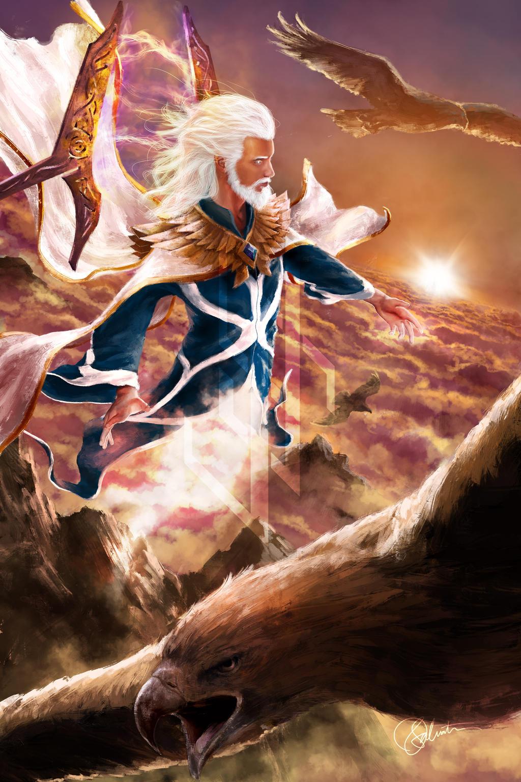 Manwe, King of Arda by skinnyuann on DeviantArt Manwe