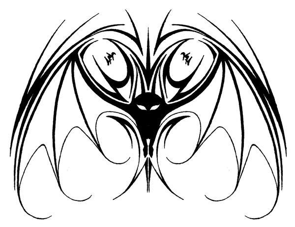 tribal bat tattoo design by kashka226 on deviantart. Black Bedroom Furniture Sets. Home Design Ideas