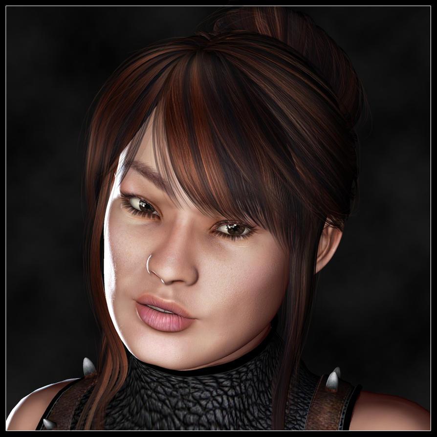 Portrait of Setsuko by LesleyG