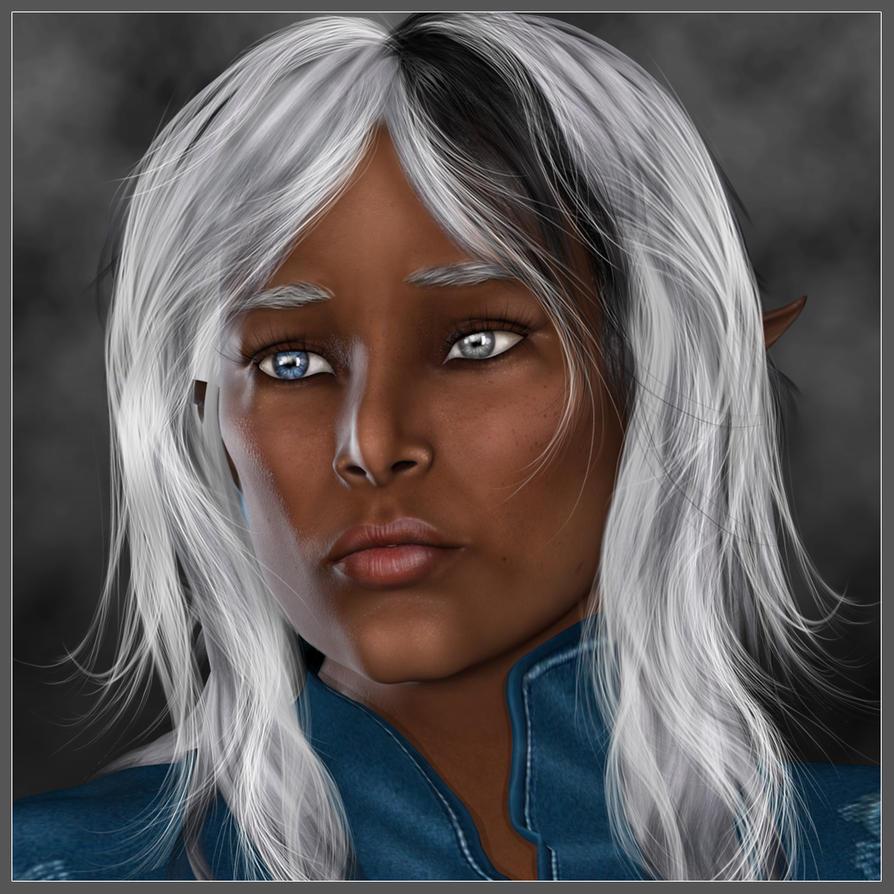 Portrait of Thelesha Moonscrye by LesleyG