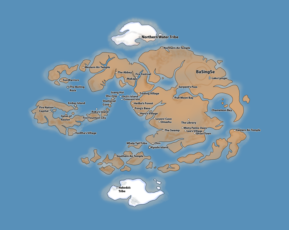 Avatar The Last Airbender Map My Blog - Avatar the last airbender us map
