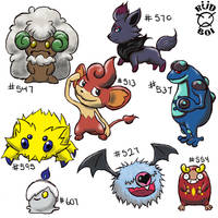 Isshu Pokemon Doodles by natas-666
