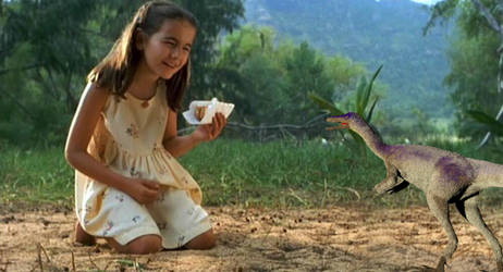 Cathy and the Compsognathus