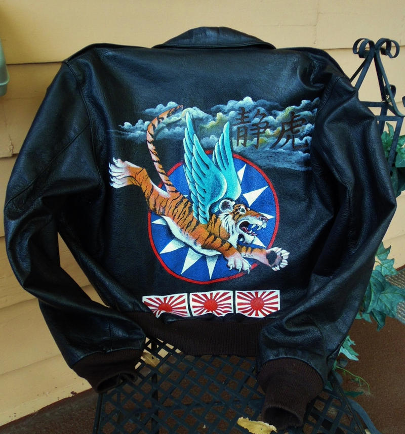 WWII 'Flying Tiger' custom jacket by annieoakley64