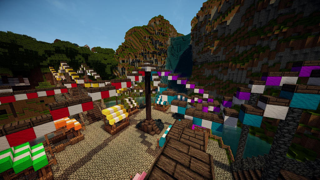 Minecraft Waterfall Market TheRoleplayWorld By