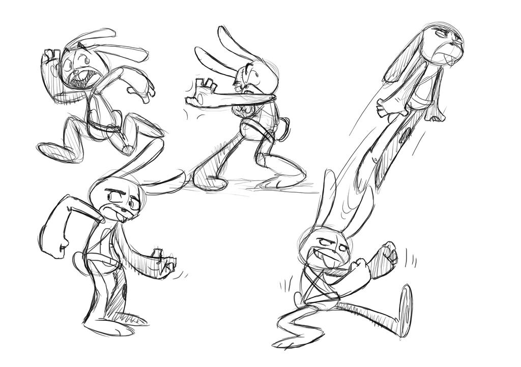 Bunny Poses by MindlessCreator