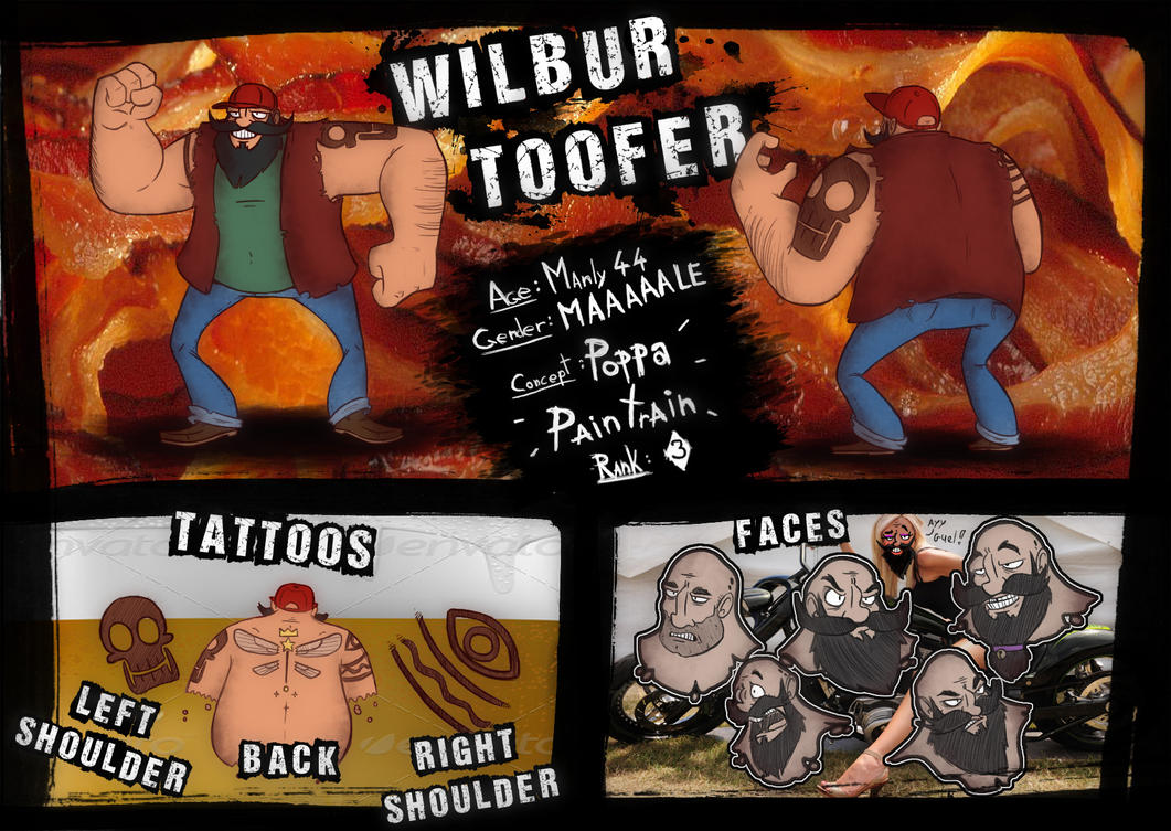 Mainly Manly Ref for Wilbur Toofer by MindlessCreator