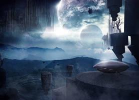 Outer space alien kingdom by EdhoART2