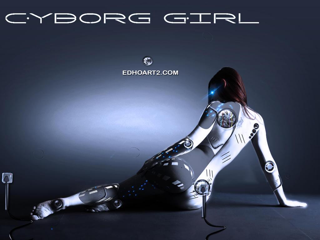 Whiteblue Cyborg by EdhoART2