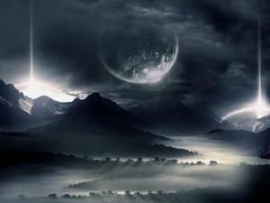 Dark mountain.