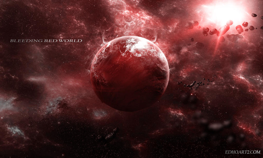 Bleeding red planet by EdhoART2