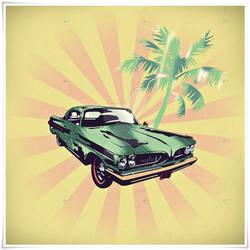 Summer Drive diginal paint pop art  poster